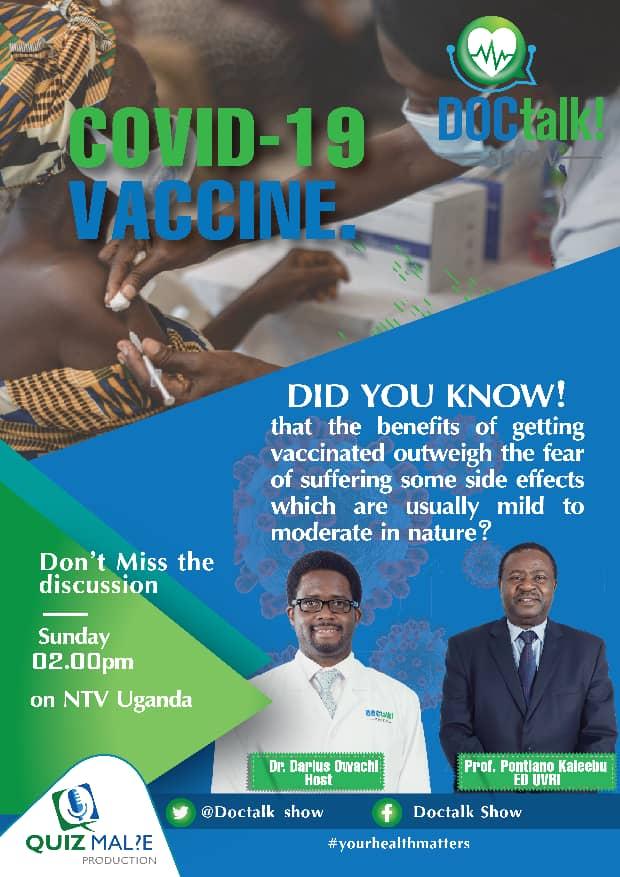 Professor Kaleebu will be presenting on NTV at 2pm on Sunday
